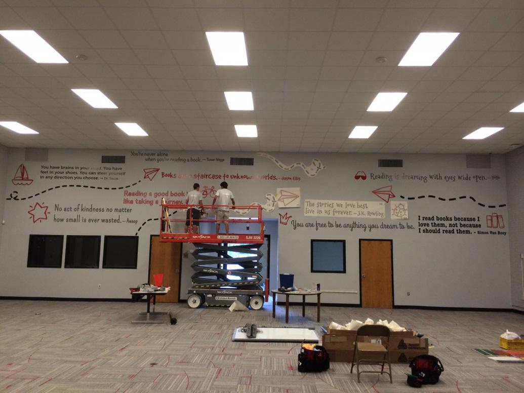 HE Bonner Center Wall Section installation