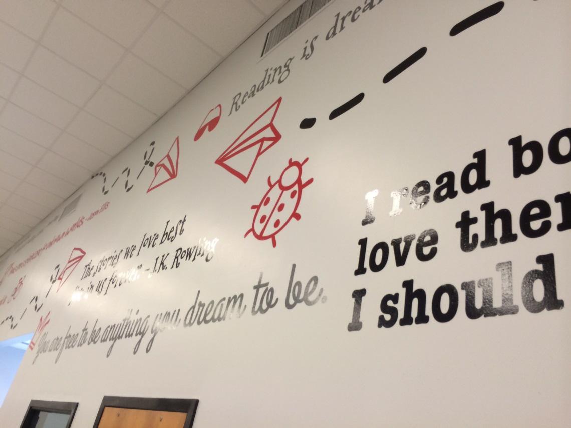 HE Bonner School Wall Mural Upclose Shot