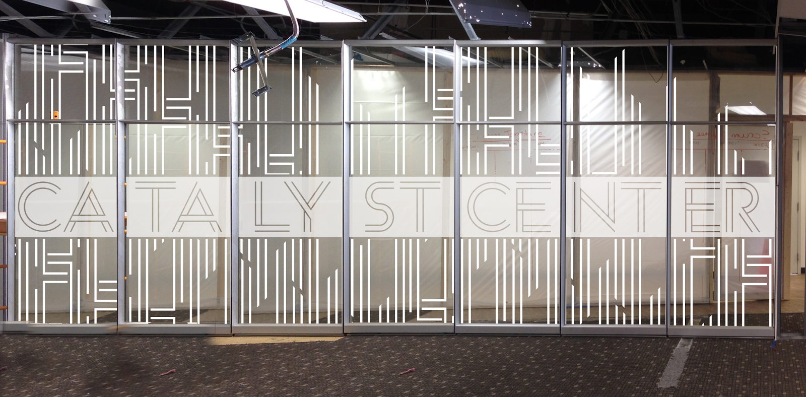Catalyst center bison branding for Window panel design
