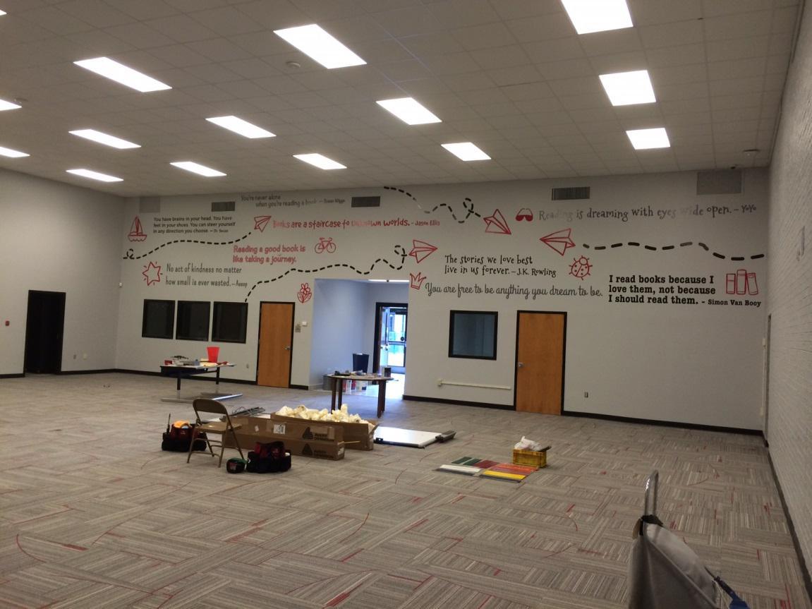 He Bonner School Completed Wall Mural